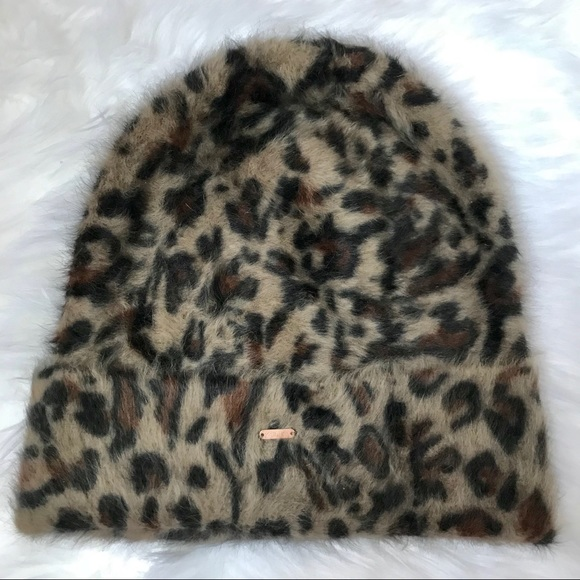 782f51358a4 Free People Accessories - Free People Slouchy Cheetah Fur Beanie